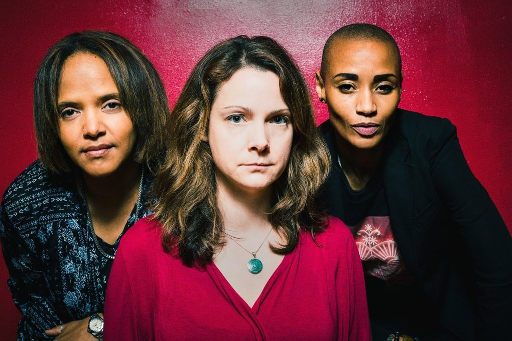 Diatom Ribbons, featuring Terri Lyne Carrington, Kris Davis and Val Jeanty, plays Oct. 4 at Seattle Art Museum as part of the 2019 Earshot Jazz Festival. (Courtesy of Company of Heaven)