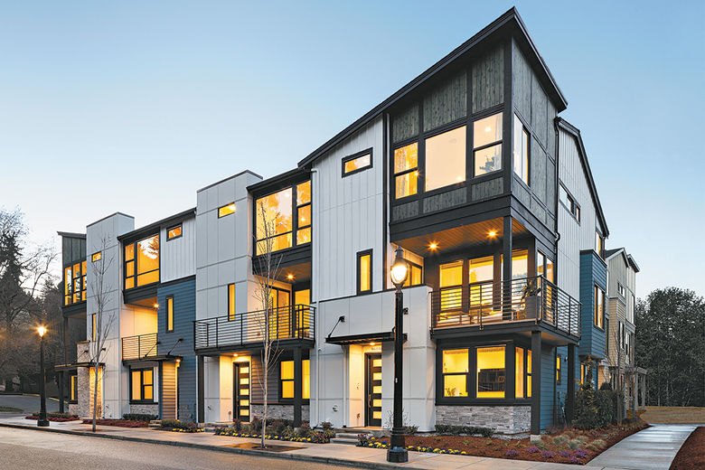 Crosswater is a boutique community of 16 luxury townhomes.