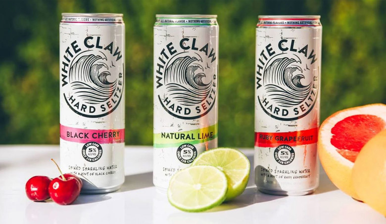 White Claw, an alcohol-enhanced seltzer now 3 years old, has become the top-selling hard seltzer brand of many dozens available in the United States, with dollar sales up 250% in the last year. (Courtesy of White Claw)