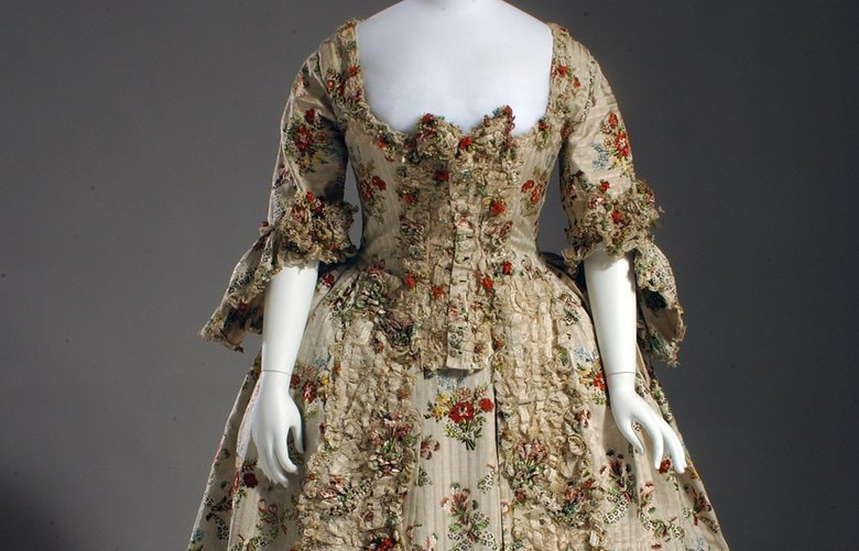 French gown dating from 1755-1760.
