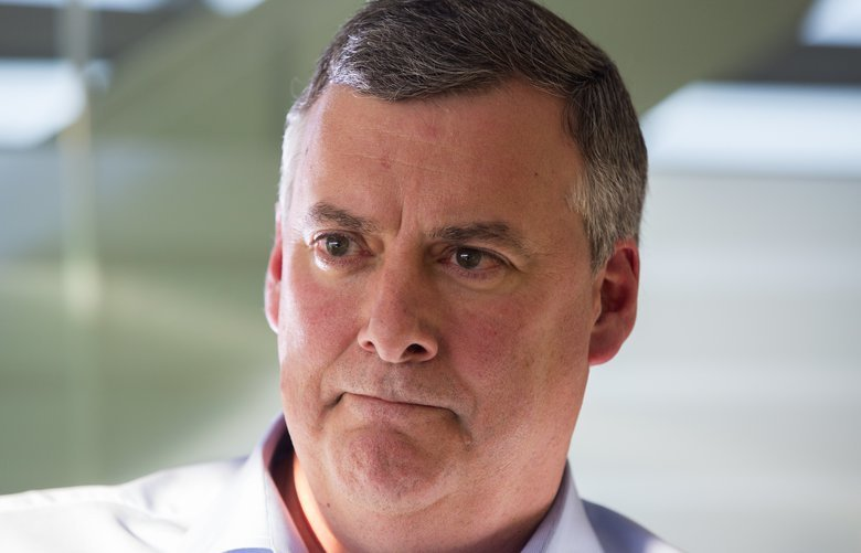 Kevin McAllister was ousted Monday after three years as CEO of Boeing Commercial Airplanes. (Mike Siegel / The Seattle Times, 2017)