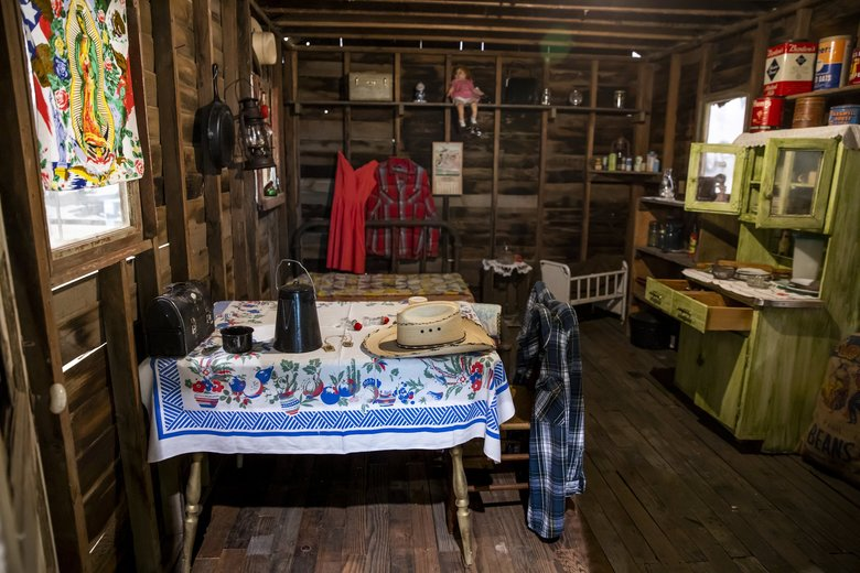 The federal government actively sought out laborers from Mexico during World War II to work the fields in Eastern Washington. They lived in small cabins like these. (Bettina Hansen / The Seattle Times)