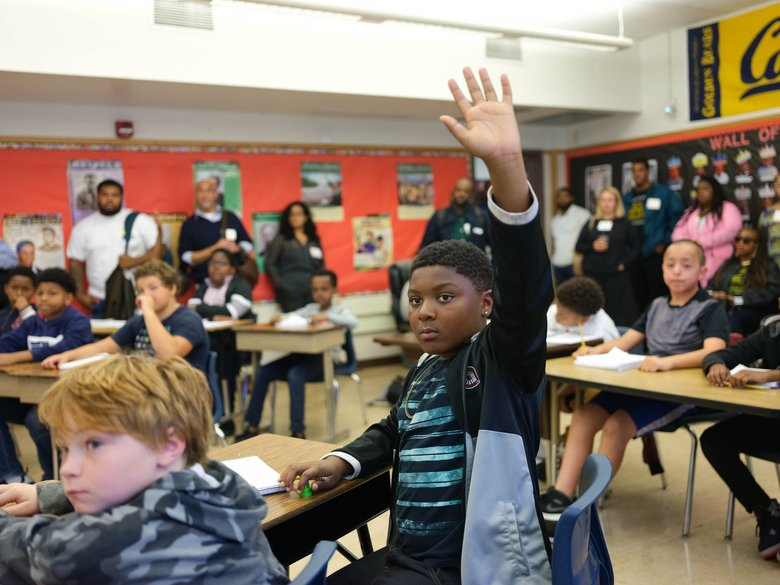 An Oakland public school program for African American boys and teenagers breaks down educational barriers – and may decrease dropout rates.  (Josh Egel / Oakland Unified School District )