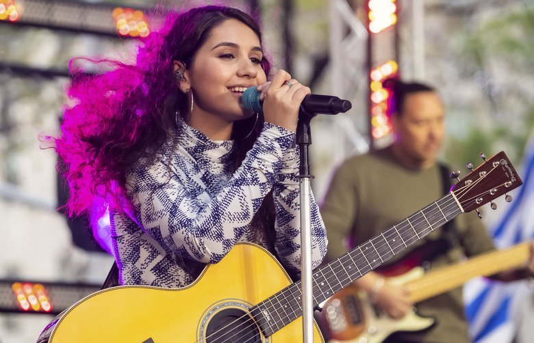 Alessia Cara performs on NBC's Today show at Rockefeller Plaza on Friday, Oct. 11, 2019, in New York. (Photo by Charles Sykes/Invision/AP) NYCS101 NYCS101