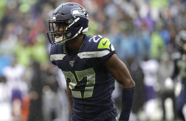 Seattle Seahawks defensive back Marquise Blair in action against the Baltimore Ravens during an NFL football game, Sunday, Oct. 20, 2019, in Seattle.  (Elaine Thompson / AP)