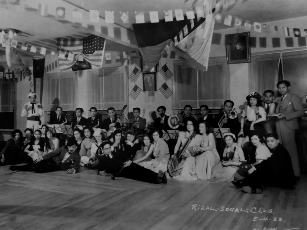 A photo from the Rizal Social Club, taken in May 1933. (courtesy of Filipino American National Historical Society)