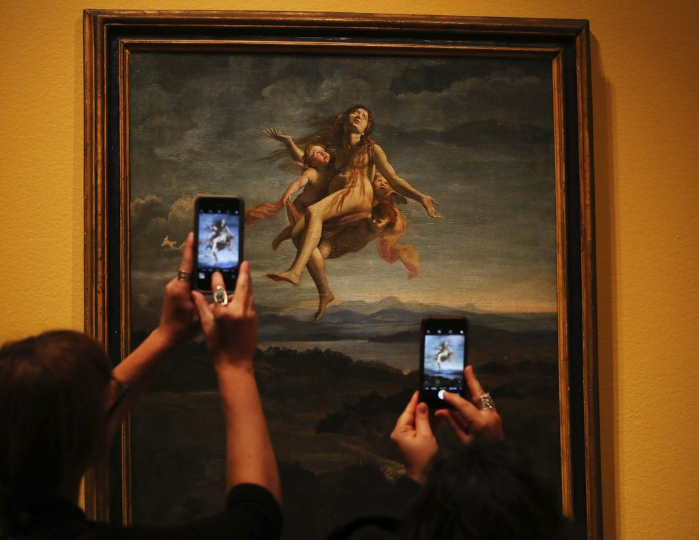 """""""Assumption of Mary Magdalene,"""" an oil on canvas by Giovanni Lanfranco, is part of SAM's """"Flesh and Blood"""" exhibition. (Ken Lambert / The Seattle Times)"""