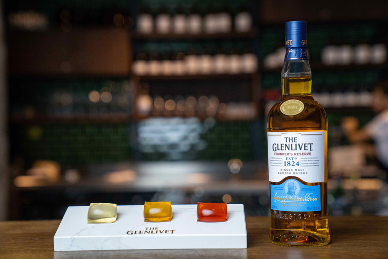 The Glenlivet Capsule Collection is tiny whisky cocktails in a clear, edible packet instead of a glass — but all people can think about is laundry detergent. (Pernod Ricard / The New York Times)