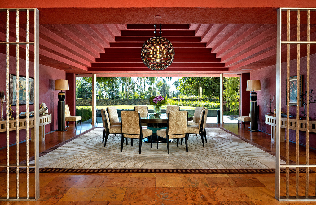 The dining room is topped with a pyramid-like ceiling. (Tyler Hogan/TNS)