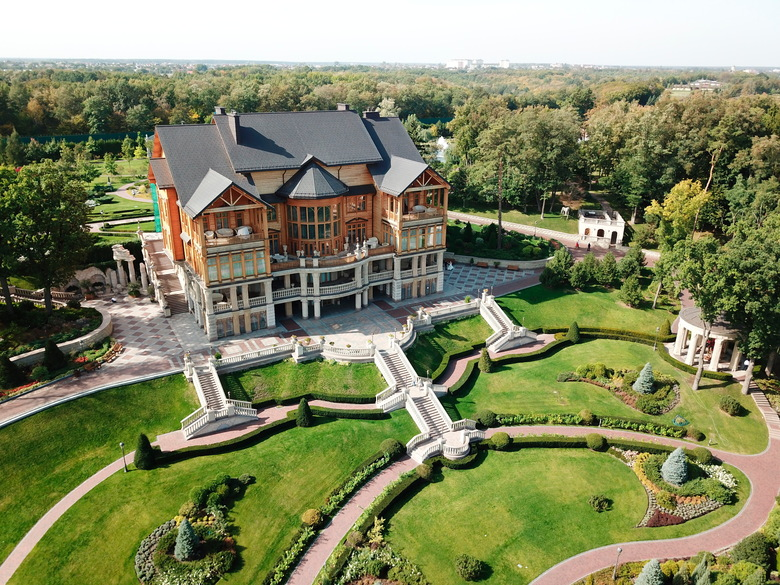 The Mezhyhirya residence  north of Kyiv, Ukraine. The massive estate was the home of former President Viktor Yanukovych, who fled the country during the 2014 Ukrainian revolution. Mezhyhirya was preserved as a sort of memorial to the corruption Ukrainians have endured. (AP Photo / Nicole Evatt, File)