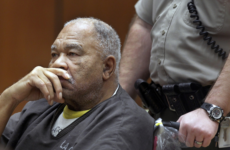 In this March 4, 2013, photo, Samuel Little appears at Superior Court in Los Angeles. Little, pronounced by the FBI the most prolific serial killer in U.S. history, has confessed to more than 90 slayings committed across the country between 1970 and 2005. (AP Photo/Damian Dovarganes, File)