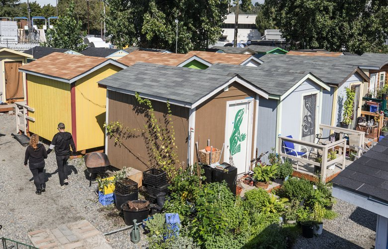 Wed. Sept. 18, 2019.   The Georgetown tiny house village located near Boeing Field.   211532