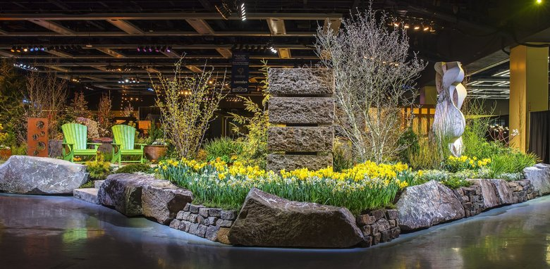 Spring arrives at the Washington State Convention Center. (Courtesy Northwest Flower & Garden Festival)