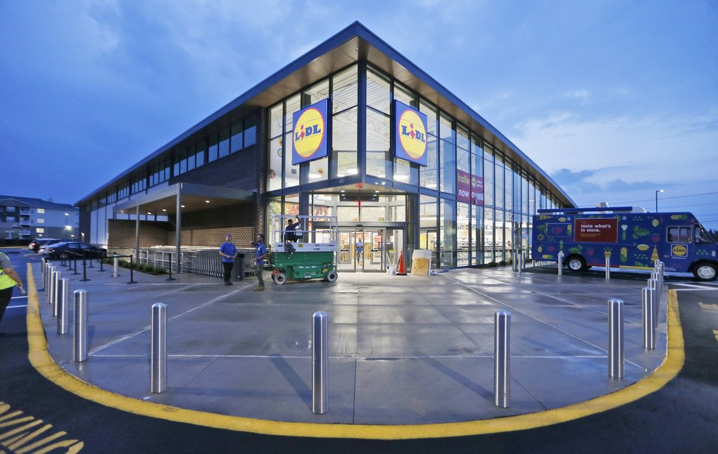 A Lidl grocery store in Virginia Beach, Va. The German discount chain could be a model for Amazon. (AP Photo / Steve Helber)