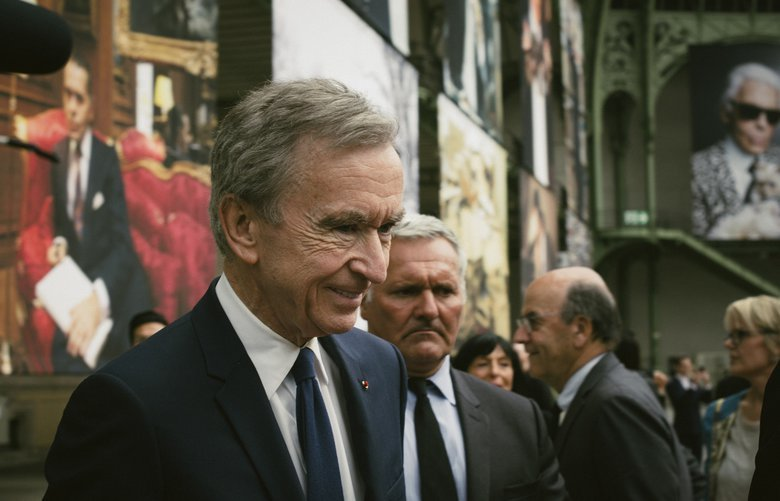 French luxury group LVMH has agreed to buy New York jeweler Tiffany & Co. for $16.2 billion. Shown here is Bernard Arnault, Europe's richest man, who controls LVMH in Paris in June. (Dmitry Kostyukov / The New York Times)