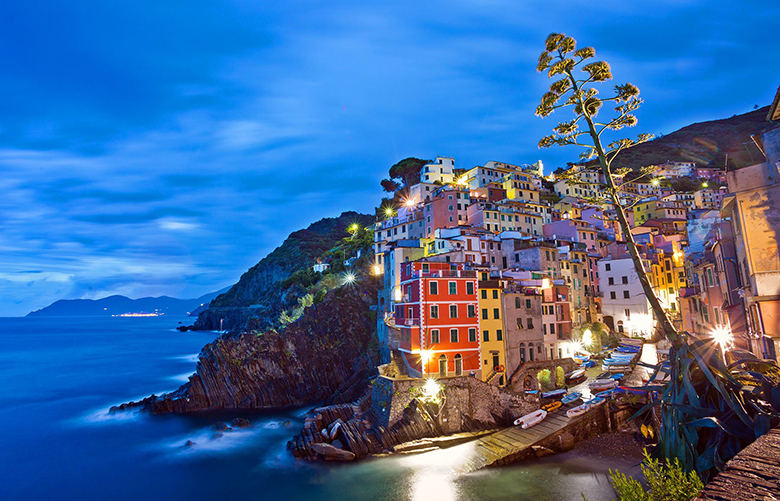 he picture-perfect setting of the Cinque Terre villages (in this case, Riomaggiore) draws millions of tourists annually. tms20191104101954