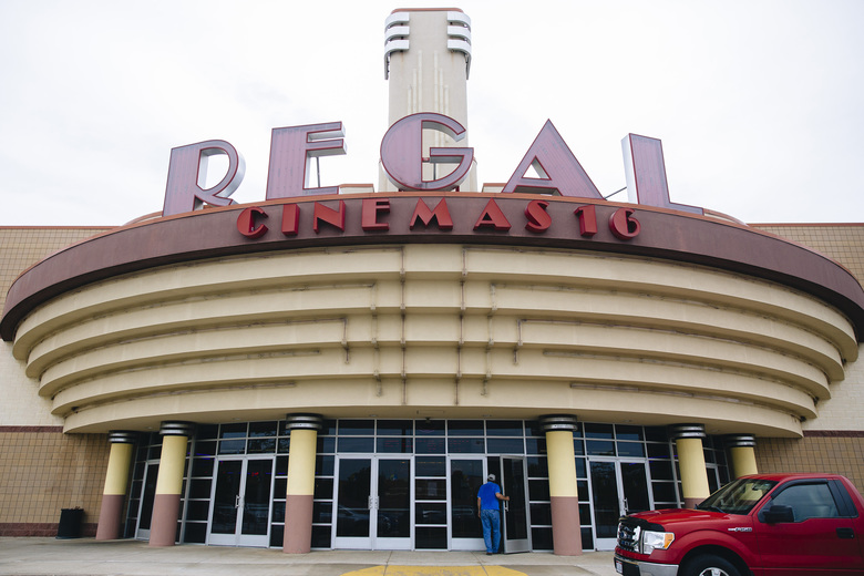 A Regal Cinemas 16 in Medina, Ohio, in 2018. Large theater chains, like Regal, would probably not be affected by a repeal of movie theater antitrust laws, but a repeal could hurt smaller independent theaters that would be more vulnerable to the dictates of movie studios. (Allison Farrand / The New York Times)