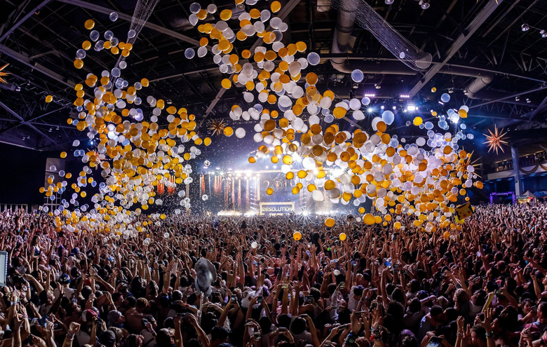 Festivalgoers can again ring in the New Year at Resolution music festival at WaMu Theater on Dec. 31. (Courtesy of Parallax)