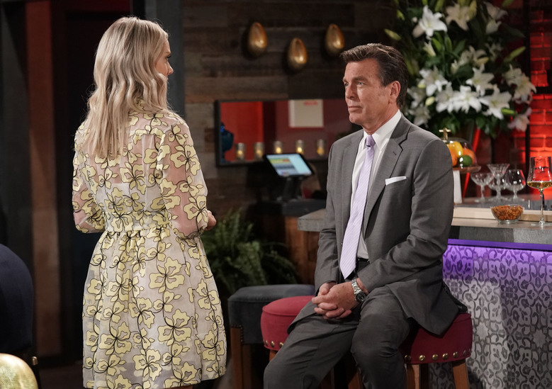 "This image released by CBS shows Peter Begman, who portrays Jack Abbott with co-star Melissa Ordwat, who portrays his niece  Abby Newman on the long-running daytime drama ""The Young and the Restless."" (Sonja Flemming/CBS via AP)"