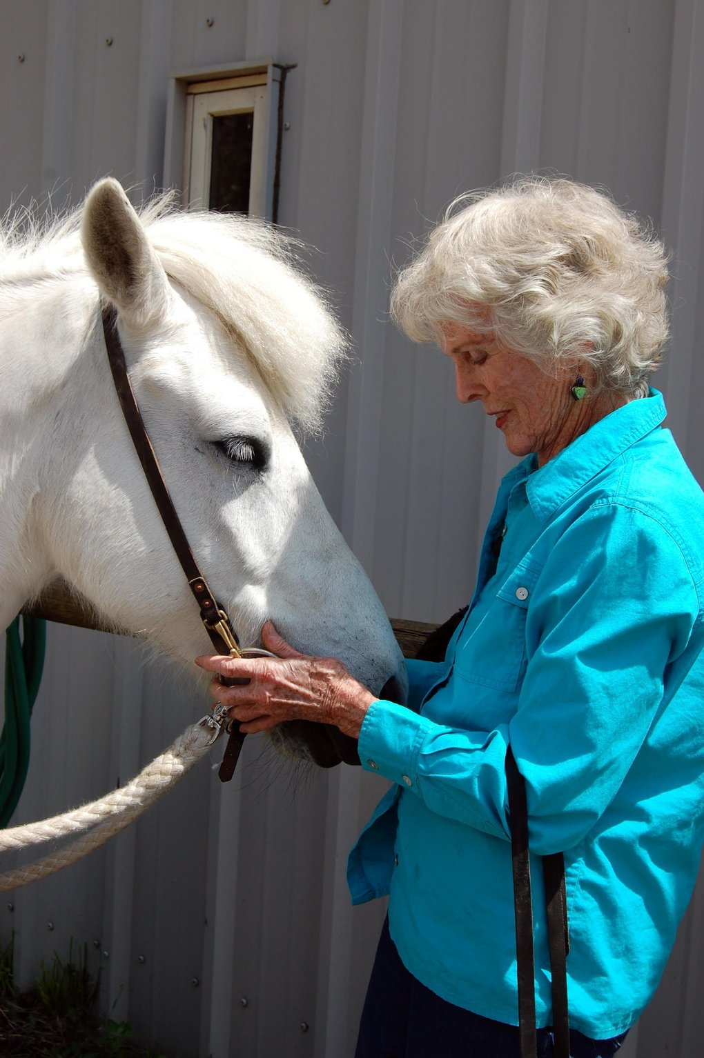 "Harriet Bullitt, shown with her horse near Sleeping Lady, is setting up the resort to ""thrive beyond my lifetime."" (Courtesy of Sleeping Lady Resort)"