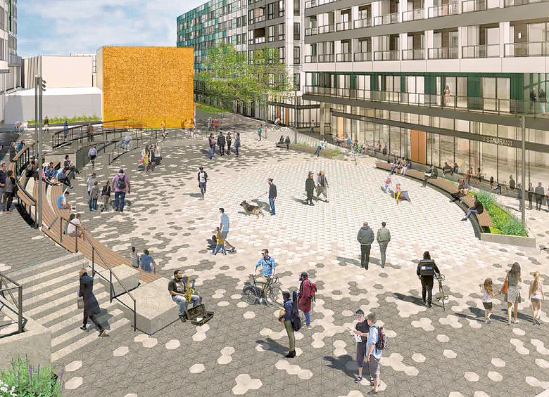 The AIDS Memorial Pathway is expected to be completed on Capitol Hill by December 2020. (Courtesy Gerding Edlen/Capitol Hill Housing/Hewitt/Schemata Workshop/Berger Partnership)
