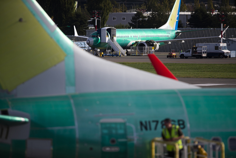 Boeing 737 MAX commercial jets are parked at the municipal airport in Renton. Ed Pierson, a former senior manager at Boeing's 737 factory, believes production problems may have contributed to two deadly crashes. (Lindsey Wasson / The New York Times)