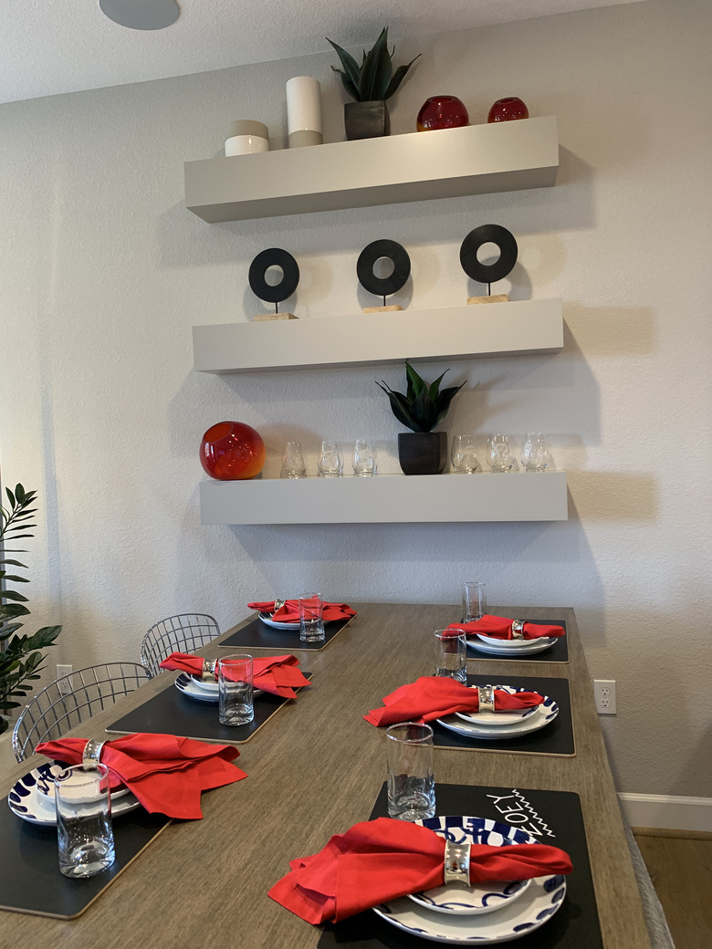The unexpected color of black paired with red for a holiday table.