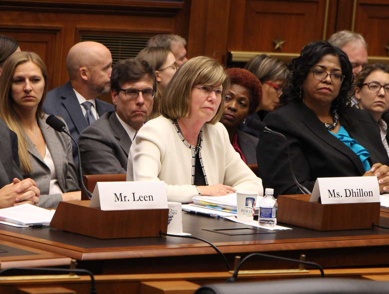 "EEOC Chairwoman Janet Dhillon testified at a House committee hearing in September: ""We must be responsive to employees who raise discrimination claims."" The number of unresolved claims is down, but the number of complaints dismissed without investigation has fallen even faster. (Photo via U.S. House)"