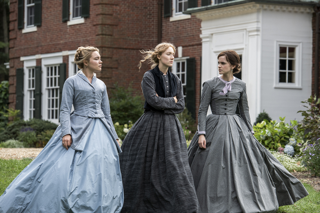 """Florence Pugh, left, plays Amy March in """"Little Women,"""" offering one of several Oscar-worthy performances from the film. (Wilson Webb / Columbia Pictures)"""
