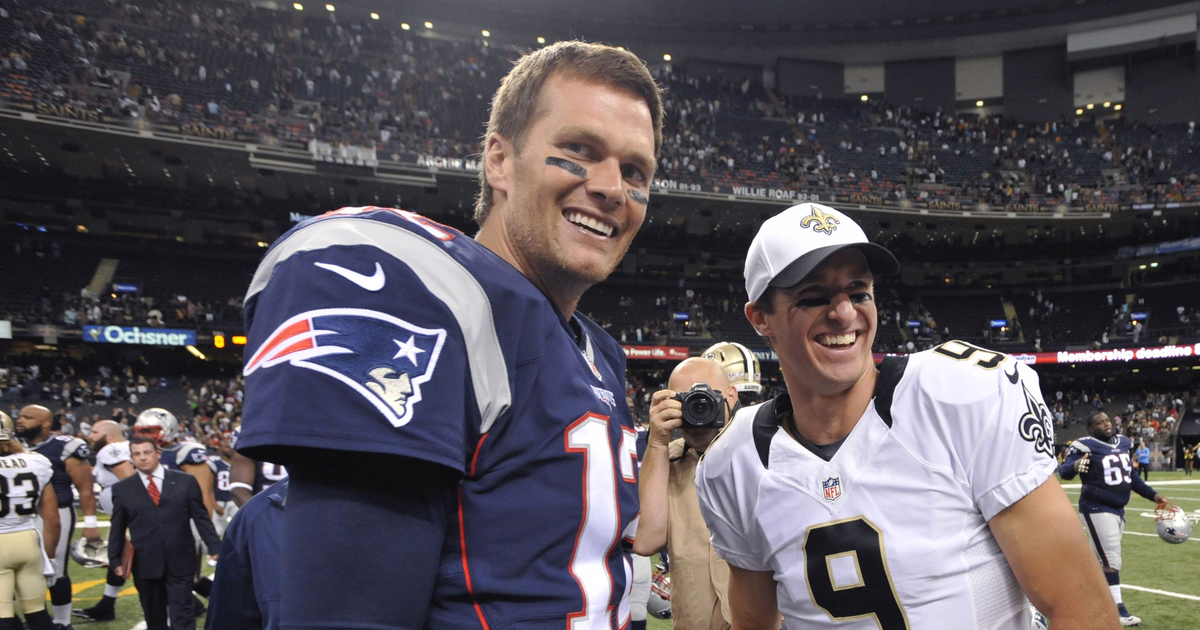 Amid hotshot passers, old men Brady and Brees roll on