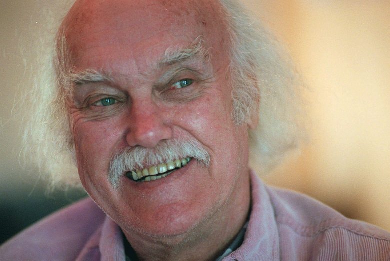 "FILE – In this Oct. 21, 1998 file photo, Ram Dass, best known for the 1971 bestseller ""Be Here Now,"" smiles during an interview at his San Anselmo, Calif., home. The 1960s counterculture spiritual leader and early LSD proponent died, Sunday, Dec. 22, 2019 at his home in Maui, Hawaii. He was 88. (AP Photo/Susan Ragan, File)"