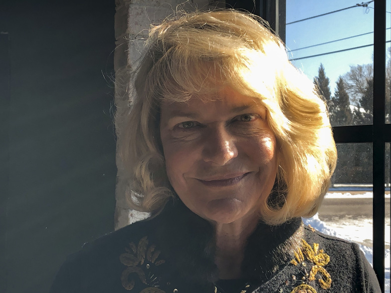 In this Dec. 16, 2019, photo, former Republican U.S. Rep. Cynthia Lummis poses for a picture in Cheyenne, Wyo. She is so far the only major candidate to replace retiring Republican Sen. Mike Enzi, of Wyoming. U.S. Rep. Liz Cheney, of Wyoming, plans to announce in early 2020 whether she will run for the Senate seat. Cheney succeeded Lummis in Congress after Lummis stepped down in 2017. (AP Photo/Mead Gruver)