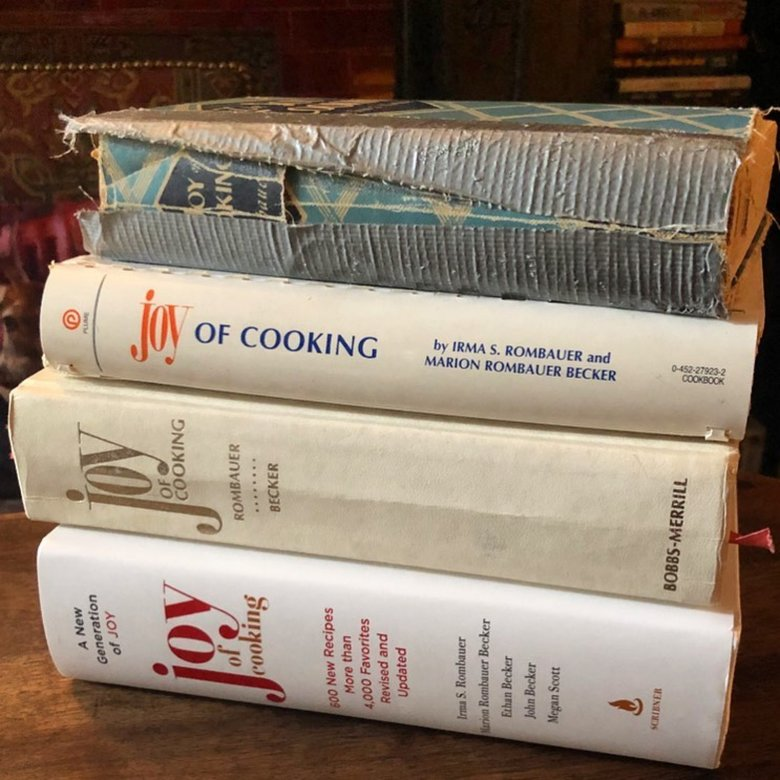 """Joy of Cooking"" cookbooks have been gifted and handed down for generations. The beloved and often well-worn book is a multigenerational labor of love for one family. (Courtesy Heidi's Bridge)"