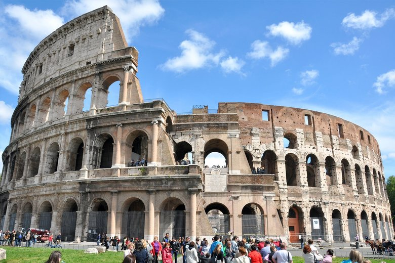 Consider skipping the Colosseum's crowded interior and just enjoying it from the outside. (Cameron Hewitt / Rick Steves' Europe)