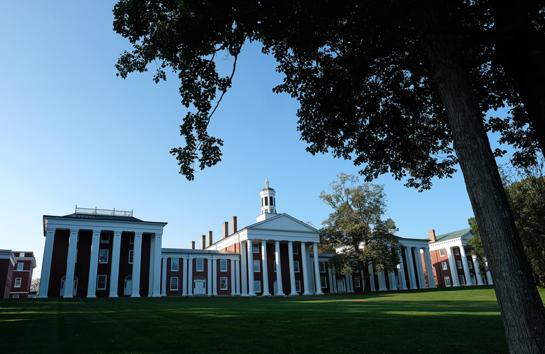 The liberal arts college Washington and Lee University in Lexington, Virginia, offers students a good return on investment, a study indicates. It is shown Sept. 19, 2019. (Photo for The Washington Post by Norm Shafer).