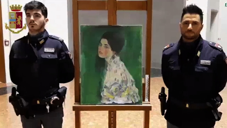 Long-lost Gustav Klimt painting found hidden in Italian gallery wall