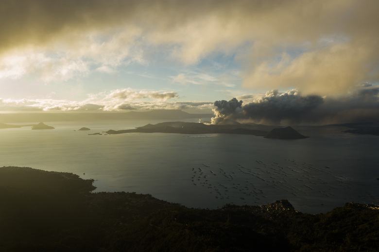 The Taal volcano as seen from Tagaytay, Philippines, in mid-January 2020. (Photo by Martin San Diego for The Washington Post)