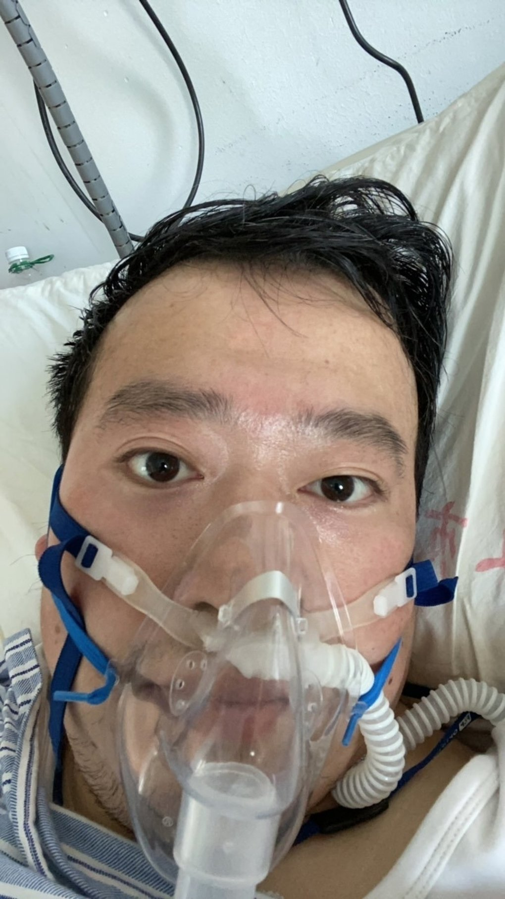In a photo he provided, Li Wenliang, a doctor in Wuhan who was silenced by the police for being one of the first to warn about the coronavirus. Li's death at 34 from the virus has set off an outpouring of grief and demands for official apologies on social media. (Li Wenliang via The New York Times)