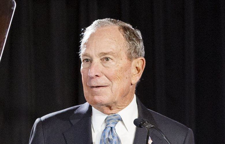 Democratic presidential candidate Mike Bloomberg speaks during a rally at the Bessie Smith Cultural Center, Wednesday, Feb. 12, 2020, in Chattanooga, Tenn. (C.B. Schmelter/Chattanooga Times Free Press via AP) TNCHA306 TNCHA306