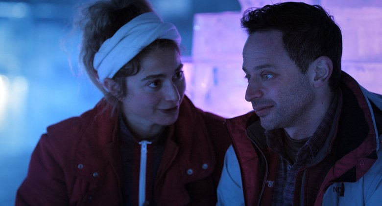 "Alexi Pappas and Nick Kroll star in ""Olympic Dreams."" (Courtesy of IFC Films)"