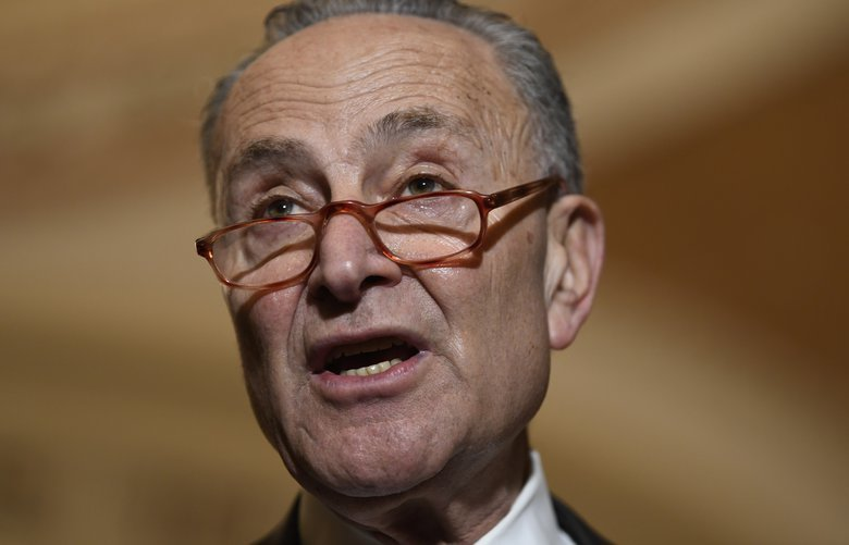 Senate Minority Leader Sen. Chuck Schumer of N.Y., speaks during a news conference on Capitol Hill in Washington, Tuesday, Feb. 25, 2020. (AP Photo/Susan Walsh) DCSW124 DCSW124