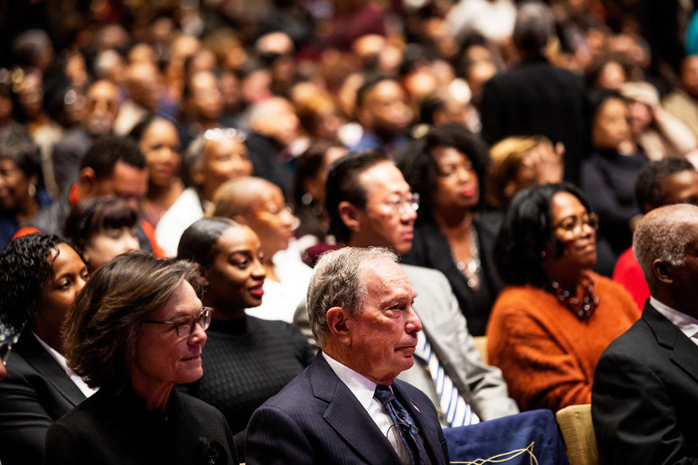 "FILE — Former Mayor Michael Bloomberg at a service on Nov. 17, 2019, at the Christian Cultural Center, a predominantly black megachurch in Brooklyn where he apologized for ""stop-and-frisk."" For two months, Bloomberg's presidential campaign has been preparing for a moment it knew would come: when decades of impolitic and insensitive remarks would face renewed scrutiny. (Demetrius Freeman/The New York Times)"