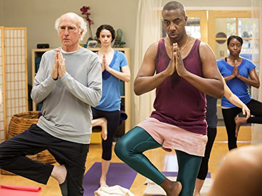 """The """"Namaste"""" episode on """"Curb Your Enthusiasm"""" features Larry David, left, and J.B. Smoove. (HBO / TNS)"""