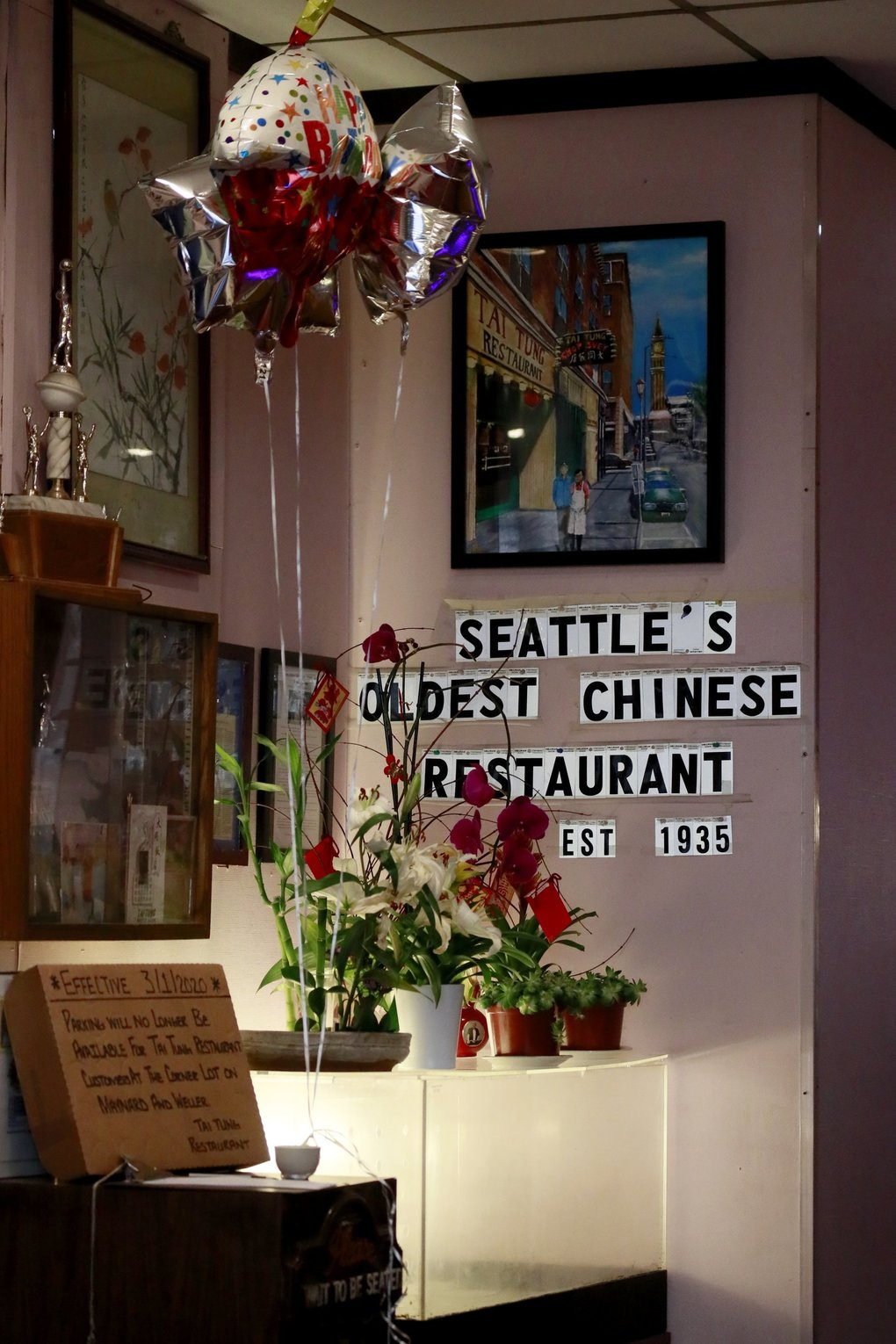 Tai Tung advertises as Seattle's oldest Chinese restaurant. (Erika Schultz / The Seattle Times)