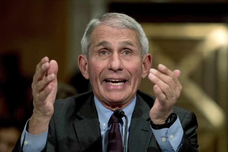 National Institute for Allergy and Infectious Diseases Director Dr. Anthony Fauci testifies before a Senate Health, Education, Labor and Pensions Committee hearing on the coronavirus on Capitol Hill, Tuesday, March 3, 2020, in Washington. (AP Photo/Andrew Harnik)