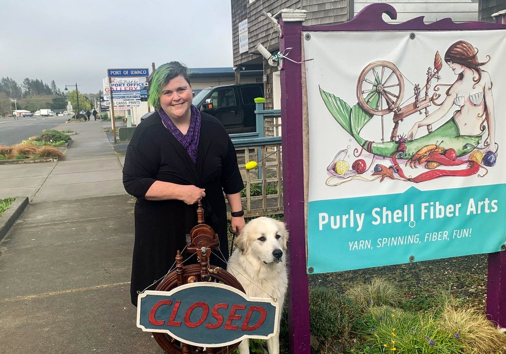 Heather Campbell runs a one-woman shop in Ilwaco called Purly Shell Fiber Arts. It has closed and she now sells her wares online. (Courtesy of Heather Campbell)