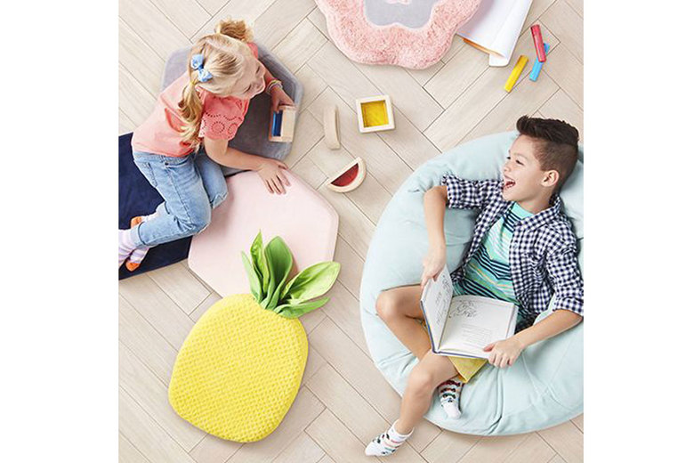 Target's Pillowfort brand has a range of sensory-friendly furniture, including pads, plush chairs and tents. (Courtesy of Target)