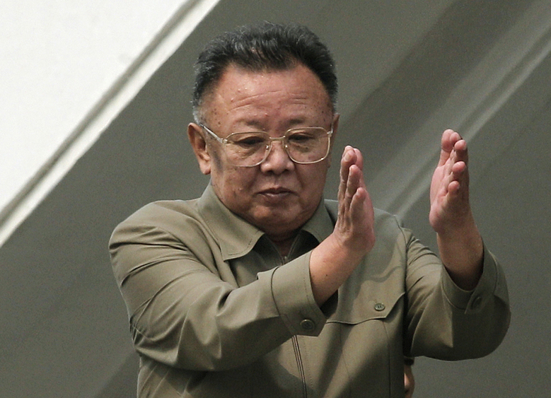 FILE – In this Oct. 10, 2010 photo, then North Korean leader Kim Jong Il applauds following a massive military parade marking the 65th anniversary of the communist nation's ruling Workers' Party in Pyongyang, North Korea. North Korean leader Kim Jong Un's two-week absence from public view has inspired speculation and rumors, but past disappearances of North Korea's ruling elite frequently have simply shown the disconnect between insatiable curiosity about the country and the secrecy surrounding its leadership. (AP Photo/Vincent Yu, File)