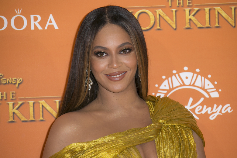 "FILE – This July 14, 2019 file photo shows Beyonce at the ""Lion King"" premiere in London. Beyonce, along with Timothy McKenzie and Ilya Salmanzadeh, failed to get an Oscar nomination for best original song for ""Spirit,"" from the film ""The Lion King."" (Photo by Joel C Ryan/Invision/AP, File)"