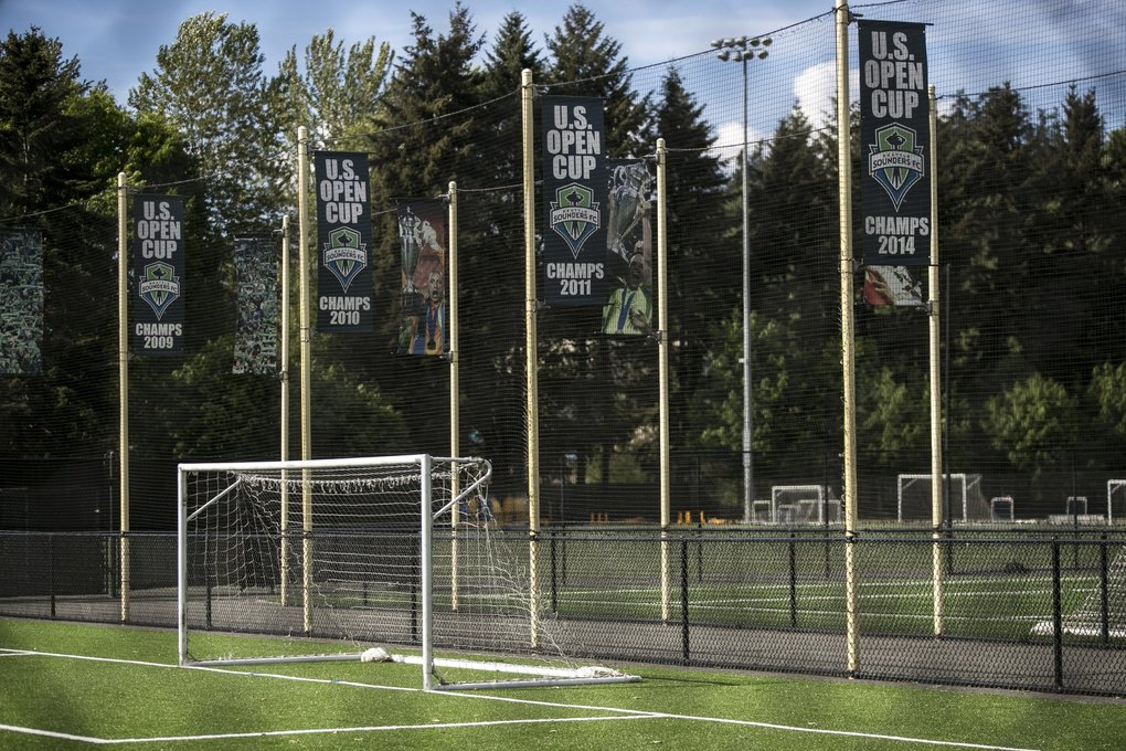 Starfire Sports, the official home training facility for Sounders FC, in Tukwila on Wednesday, May 13, 2020. (Amanda Snyder / The Seattle Times)